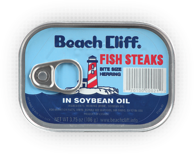 Beach Cliff® Fish Steaks in Soybean Oil