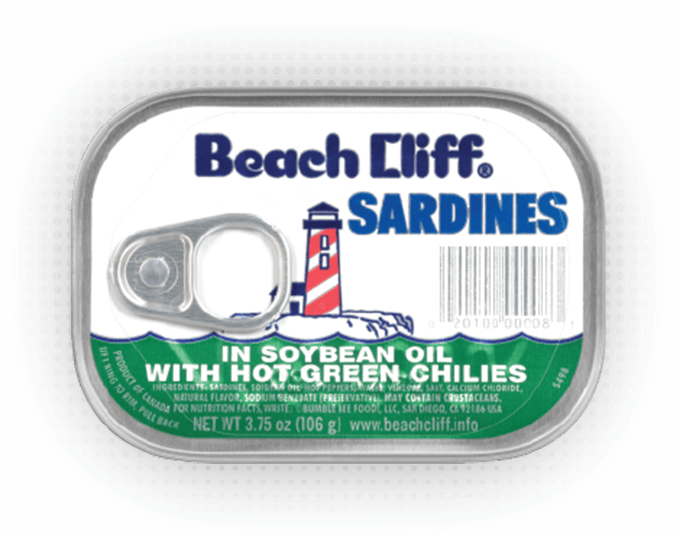 Beach Cliff® Sardines in Soybean Oil with Hot Green Chilies