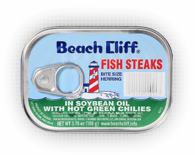 Beach Cliff® Fish Steaks In Soybean Oil with Hot Green Chilies