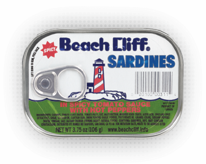 Beach Cliff® Sardines in Spicy Tomato Sauce with Hot  Pepper